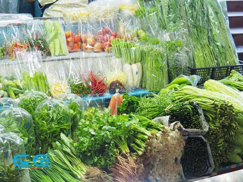 Vegetables at a supermarket